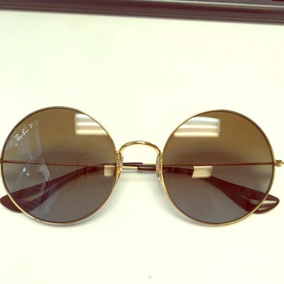 ff41628891b Ray Ban Ja-Jo Round Polarized Sunglasses Gold. M 5a7cb060daa8f60fa7219ad4
